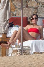 TATIANA DIETEMAN in a Red Bikini at a Beach in Mexico 12/30/2019