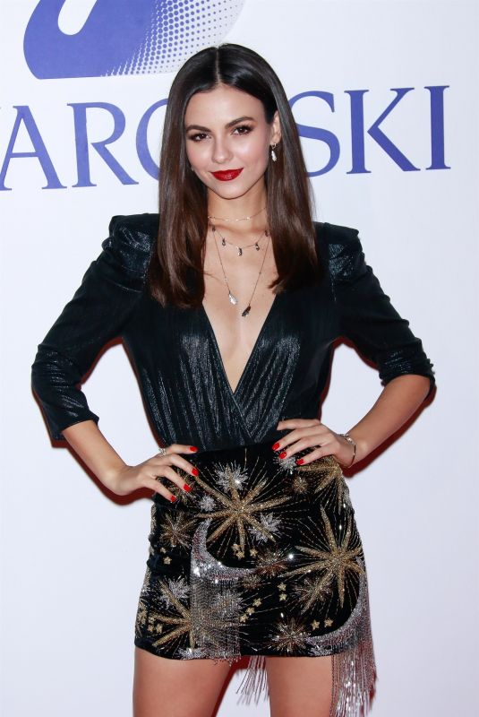 VICTORIA JUSTICE at Swarovski's Nice or Naughty Holiday Celebration in New York 12/10/2019