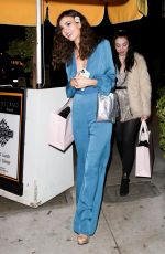 VICTORIA JUSTICE Leaves Peppermint Club in West Hollywood 12/11/2019