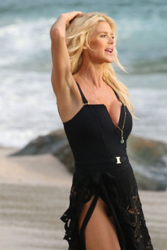 VICTORIA SILVSTEDT at a Beach in St. Barth 12/29/2019