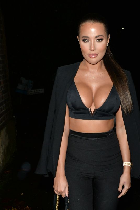 YAZMIN OUKHELLOU at Sheesh Chigwell in London 12/14/2019