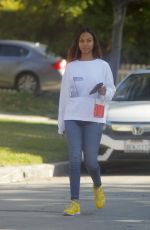 ZOE SALDANA Makeup Free Out in Beverly Hills 12/13/2019