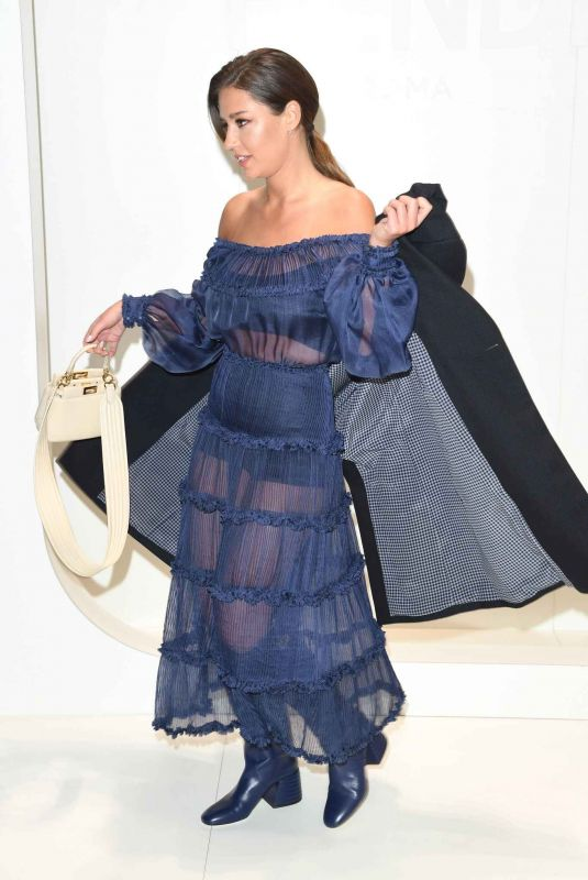 ADELE EXARCHOPOULOS at Fendi Fashion Show in Milan 01/13/2020