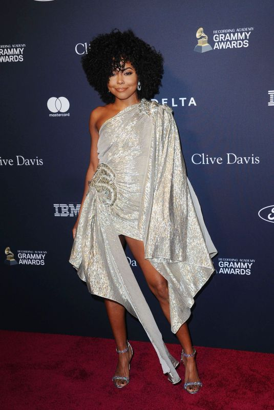 ADRIENNE WARREN at Recording Academy and Clive Davis Pre-Grammy Gala in Beverly Hills 01/25/2020