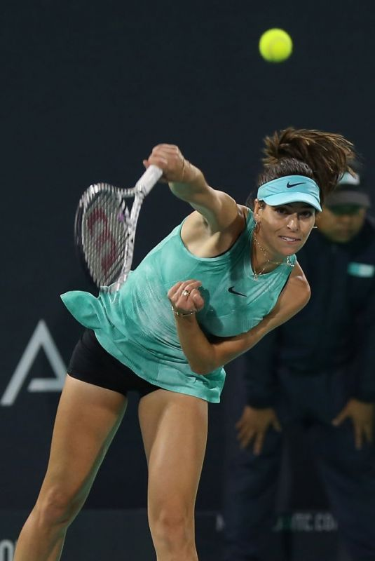 AJLA TOMLJANOVIC at Mubadala World Tennis Championship in Abu Dhabi 12/19/2019