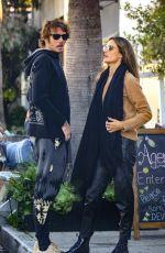 ALESSANDRA AMBROSIO and Nicolo Oddi at Gjelina in Venice Beach 01/23/2020