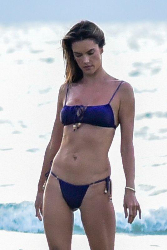 ALESSANDRA AMBROSIO in Bikini on the Beach in Florianopolis 01/16/2020