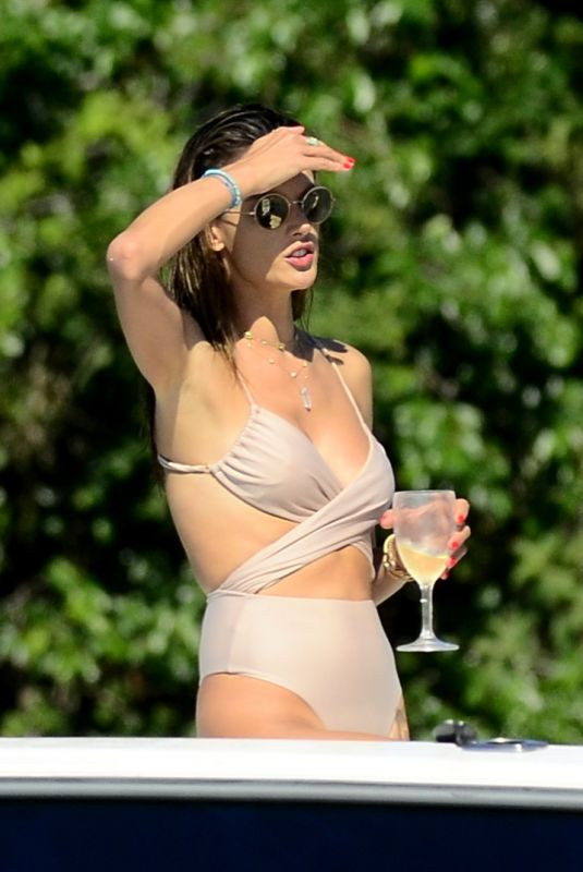 ALESSANDRA AMBROSIO in Swimsuit at a Beach in Florianopolis 01/07/2020
