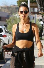 ALESSANDRA AMBROSIO Leaves a Gym in Malibu 01/24/2020