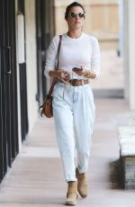 ALESSANDRA AMBROSIO Out and About in Brentwood 01/21/2020