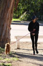 ALESSANDRA AMBROSIO Out Hiking with Her Dog in Pacific Palisades 01/23/2020