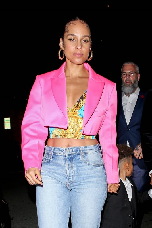 ALICIA KEYS Leaves Grammy Afterparty at Mr Chow in Beverly Hills 01/26/2020