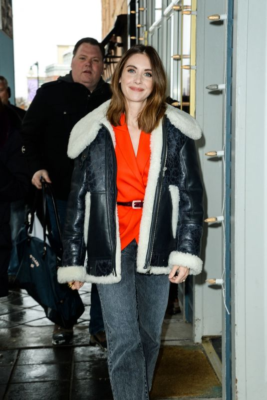 ALISON BRIE Out and About in Park City 01/27/2020