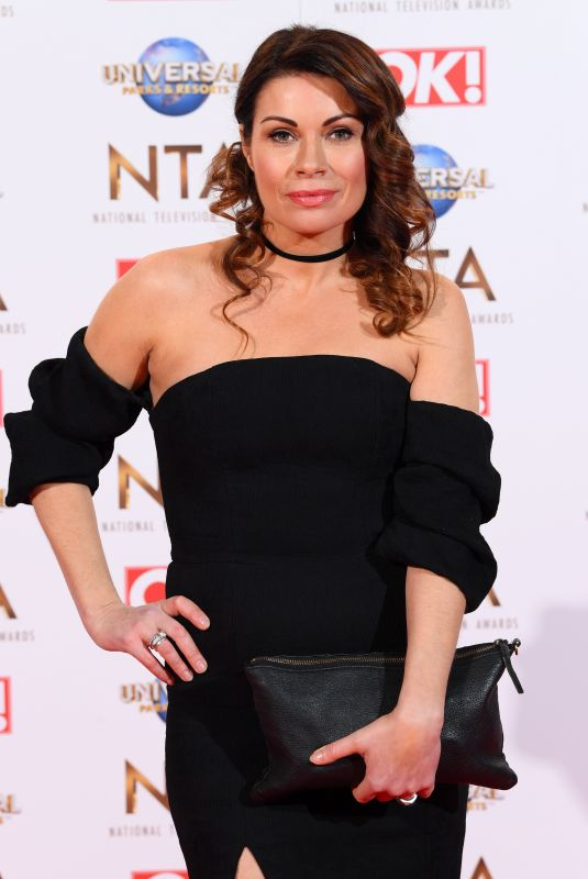 ALISON KING at National Television Awards 2020 in London 01/28/2020