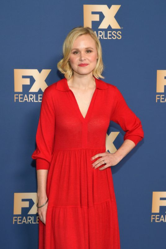 ALISON PILL at 2020 Winter TCA Tour in Pasadena 01/09/2020
