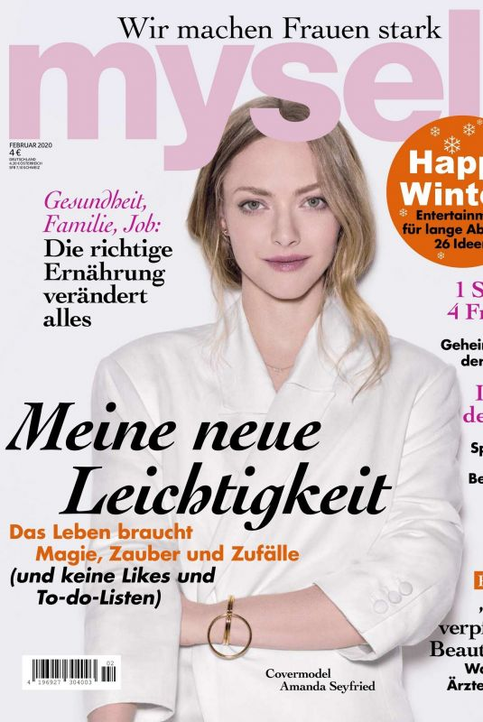 AMANDA SEYFRIED in Myself Magazine, Germany January 2020