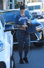 AMBER ROSE Out and About in Sherman Oaks 12/31/2019