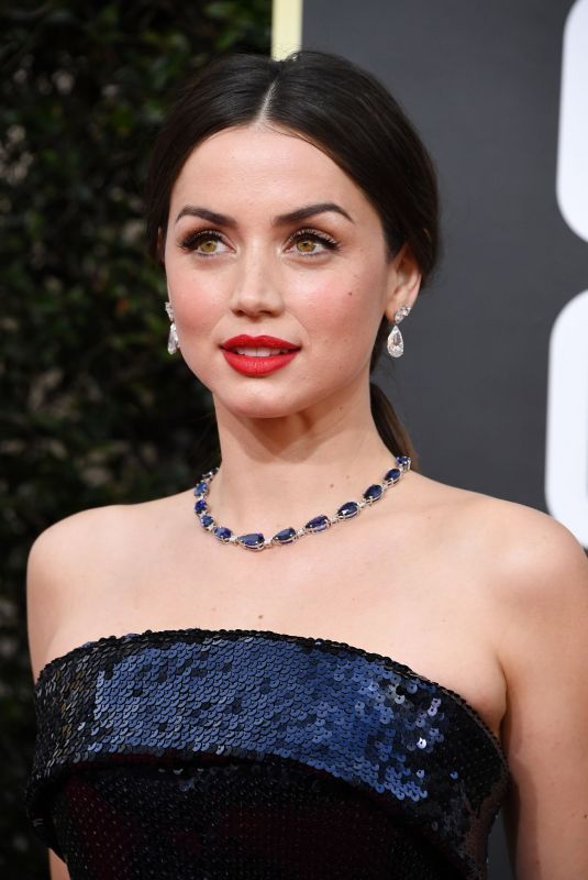 ANA DE ARMAS at 77th Annual Golden Globe Awards in Beverly Hills 01/05/2020