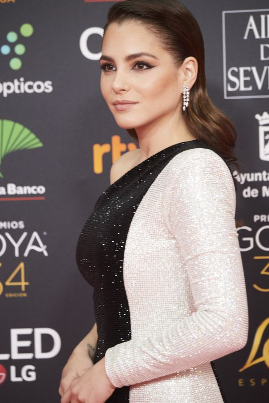 ANDREA DURO at 34th Goya Cinema Awards 2020 in Madrid 01/25/2020
