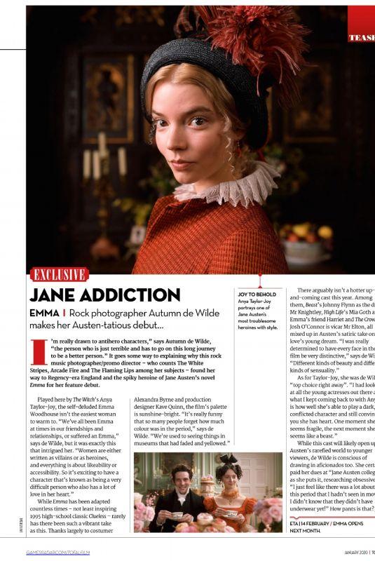 ANYA TAYLOR-JIY in Total Film Magazine, January 2020