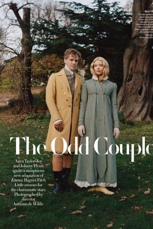 ANYA TAYLOR-JOY and Johnny Flynn in Vogue Magazine, February 2020