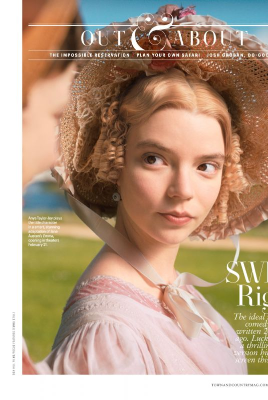ANYA TAYLOR-JOY in Town & Country Magazine, February 2020