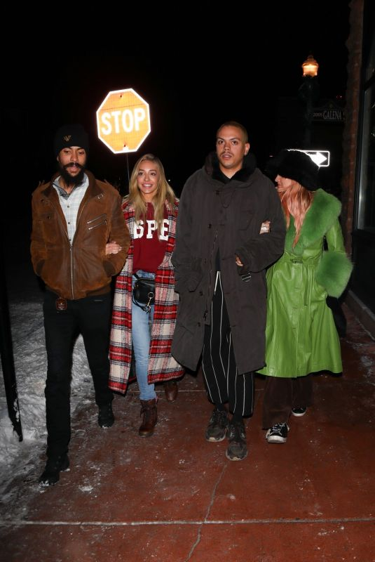 ASHLEE SIMPSON, RHODA and TRACEE ELLIS ROSS Out for Dinner in Aspen 12/27/2019