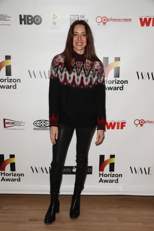 AUBREY PLAZA at 6th Annual Horizon Award at 2020 Sundance Film Festival 01/26/2020