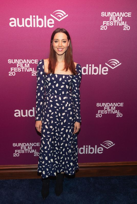 AUBREY PLAZA at Black Bear Premiere Party in Park City 01/24/2020
