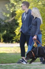 AVA PHILLIPPE Out with Her Boyfriend in Brentwood 01/13/2020