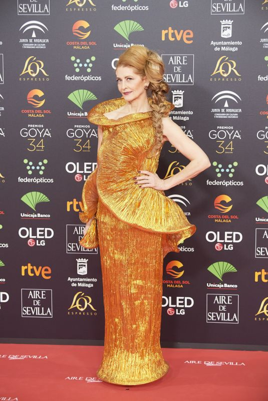 AZUCENA DE LA FUENTE at 34th Goya Cinema Awards 2020 in Madrid 01/25/2020
