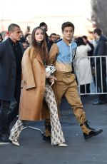 BARBARA PALVIN Arrives at Prada Fashion Show in Milan 01/12/2020