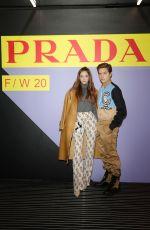 BARBARA PALVIN at Prada Fashion Show in Milan 01/12/2020