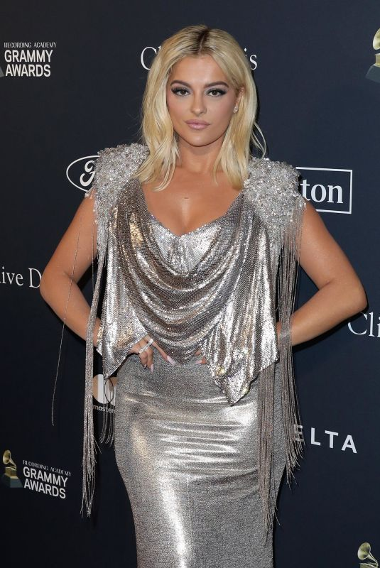 BEBE REXHA at Recording Academy and Clive Davis Pre-Grammy Gala in Beverly Hills 01/25/2020