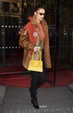 BELLA HADID Leaves Her Hotel in Paris 01/20/2020