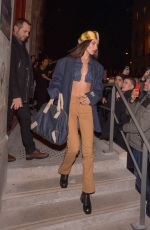 BELLA HADID Leaves Jean Paul Gaultier Fashion Show in Paris 01/22/2020