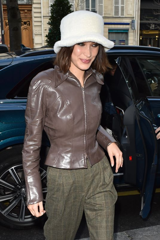 BELLA HADID Out and About in Paris 01/19/2020