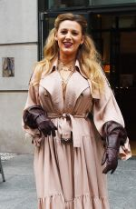 BLAKE LIVELY Leaves Crosby Hotel in New York 01/27/2020