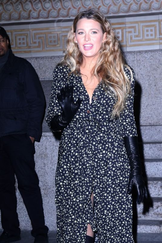BLAKE LIVELY Out and About in new York 01/27/2020