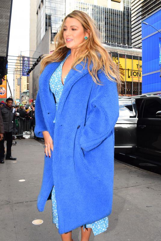 BLALE LIVELY Leaves Good Morning America in New York 01/28/2020