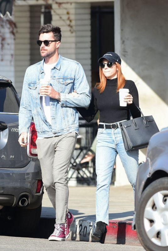 BRITTANY SNOW and Tyler Stanaland at Joan's on Third in Studio City 01/13/2020