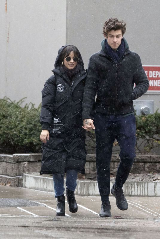CAMILA CABELLO and Shawn Mendes Out in Toronto 01/01/2020