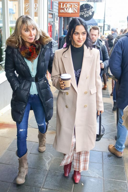 CAMILA MENDES Out for Coffee in Park City 01/25/2020