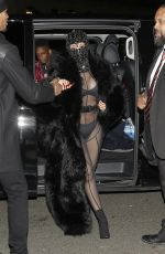 CARDI B Arrives at Laundered Works Corp at Paris Fashion Week 01/16/2020