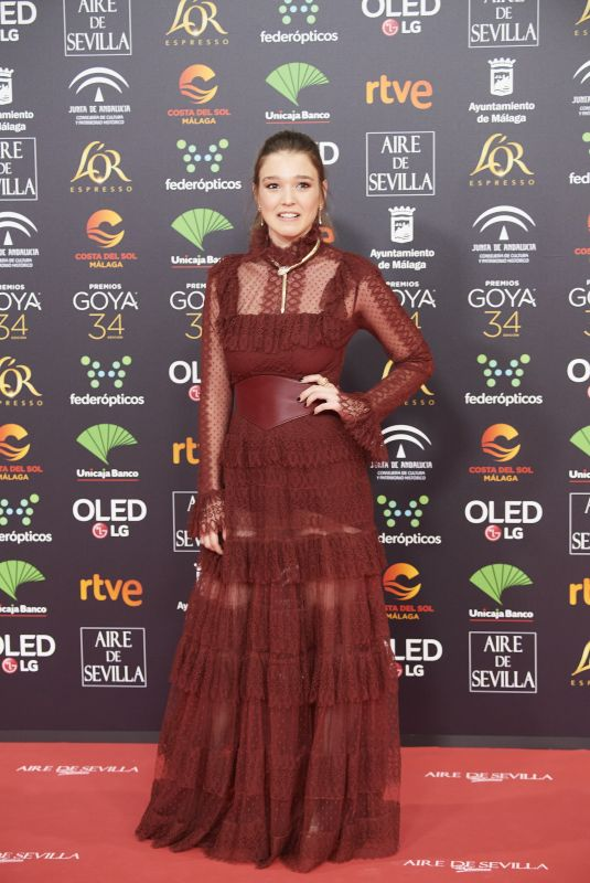 CARLA CAMPRA at 34th Goya Cinema Awards 2020 in Madrid 01/25/2020