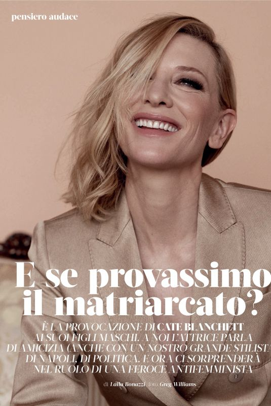 CATE BLANCHETT in Marie Claire Magazine, Italy February 2020