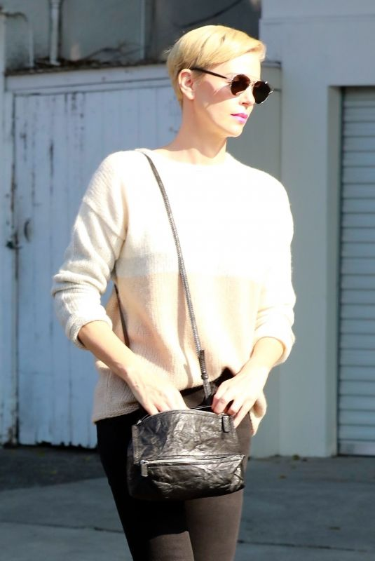 CHARLIZE THERON at a Furniture Store in Los Angeles 01/13/2020