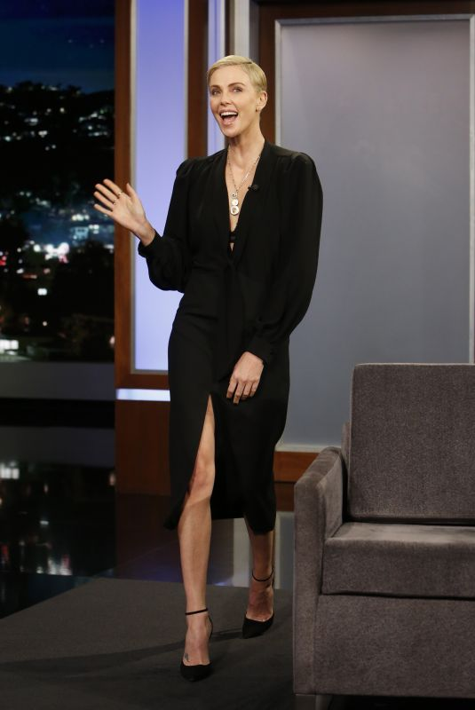 CHARLIZE THERON at Jimmy Kimmel Live 01/15/2020
