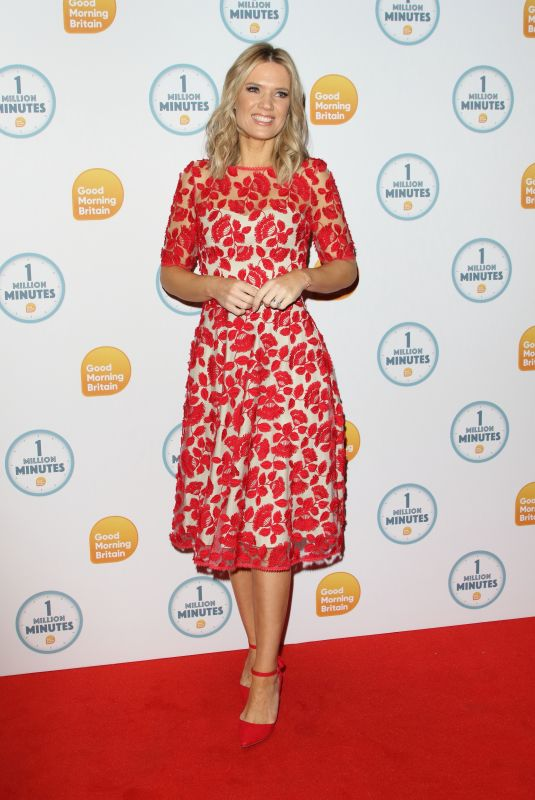 CHARLOTTE HAWKINS at Good Morning Britain 1 Million Minutes Awards in London 01/23/2020
