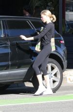 CHARLOTTE MCKINNEY Leaves Kreation in West Hollywood 01/10/2020